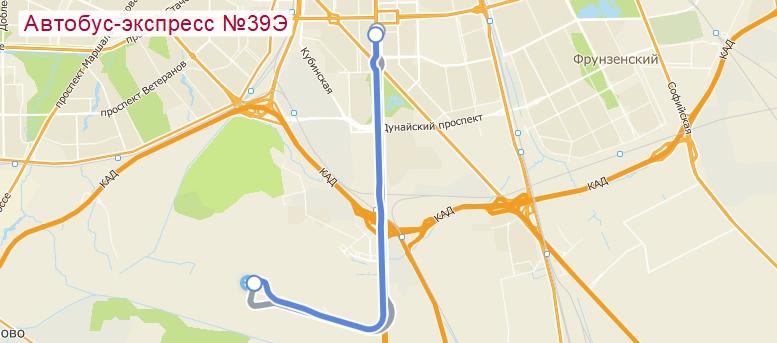 как добраться на автобусе маршрут 39е